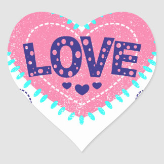 Love crown and hearts heart sticker