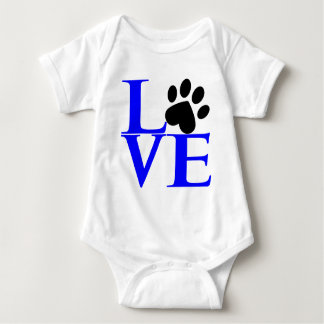 LOVE Cube, blue.png Baby Bodysuit