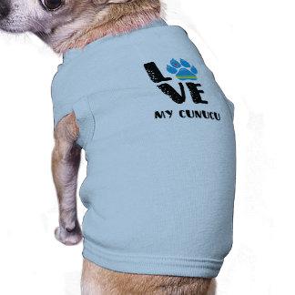 LOVE CUNUCU (Black letters) - Dog shirt