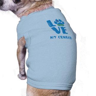 LOVE CUNUCU (Blue letters) - Dog shirt