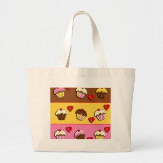 Love cupcakes large tote bag