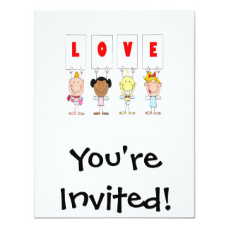 love cupid stick figures different nationalities 11 cm x 14 cm invitation card