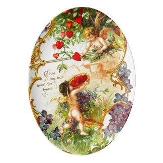 Love Cupid Valentine Vintage 13x9 Serving Platter