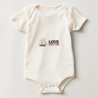 love cures all things baby bodysuit