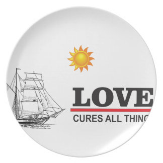 love cures all things party plates