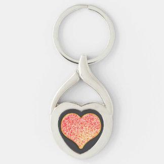 LOVE - Custom Your Color- twist heart Metal Key Ring
