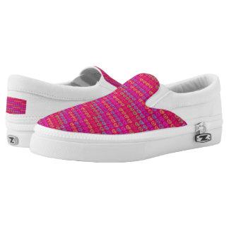 LOVE  Custom Zipz Slip On Shoes Printed Shoes