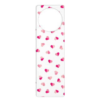 Love Cute Pink Heart Pattern Door Hanger
