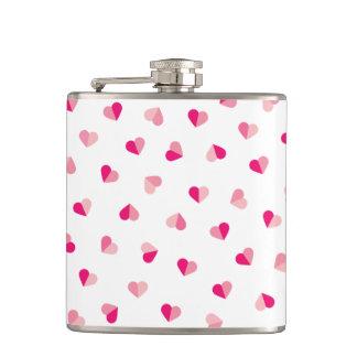 Love Cute Pink Heart Pattern Flasks