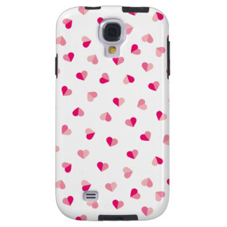 Love Cute Pink Heart Pattern Galaxy S4 Case
