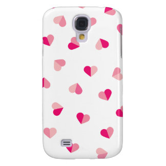 Love Cute Pink Heart Pattern Galaxy S4 Cover