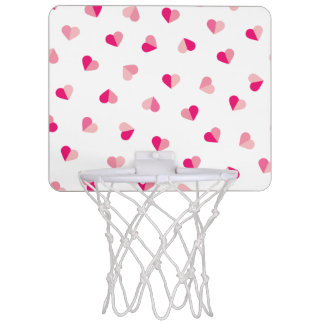 Love Cute Pink Heart Pattern Mini Basketball Hoop