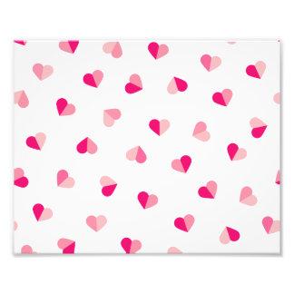 Love Cute Pink Heart Pattern Photo Print