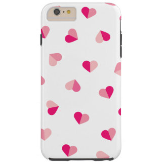 Love Cute Pink Heart Pattern Tough iPhone 6 Plus Case