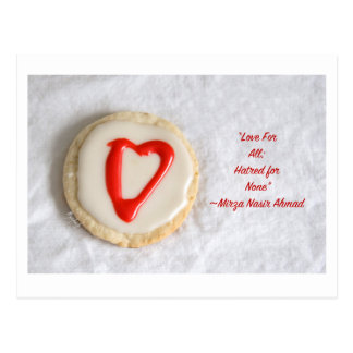 """Love"" Cutout Cookie jjhelene design Postcard"