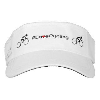 Love cycling hashtag sports visor