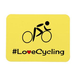 Love cycling slogan cyclist magnet