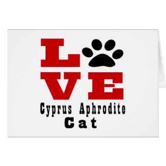 Love Cyprus Aphrodite Cat Designes Card