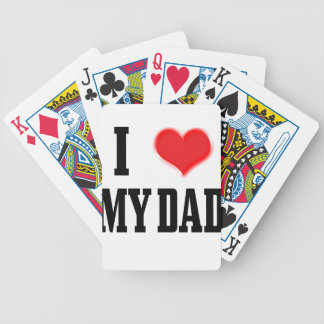 love dad bicycle playing cards