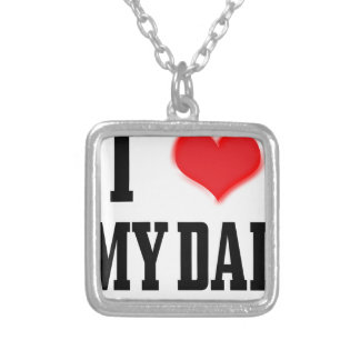 love dad silver plated necklace