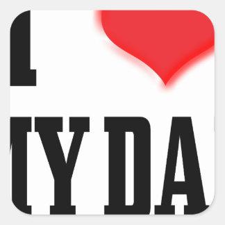 love dad square sticker
