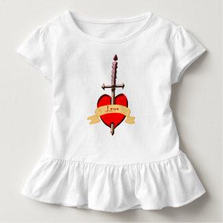 love dagger pierced heart toddler T-Shirt