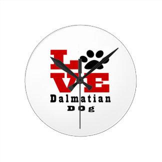 Love Dalmatian Dog Designes Wallclocks