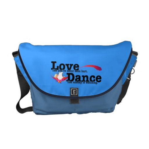 Love, Dance, Live Messenger Bags