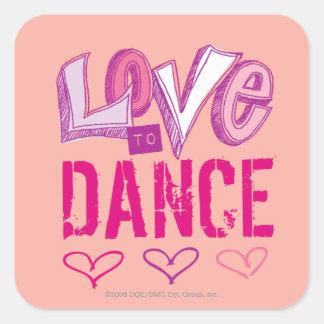Love Dance Square Sticker