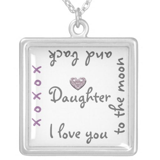 Love Dauhgter to moon and back necklace