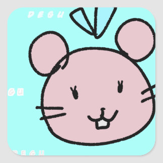 LOVE♡DEGU SQUARE STICKER