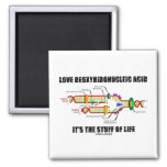 Love Deoxyribonucleic Acid It's The Stuff Of Life Refrigerator Magnets