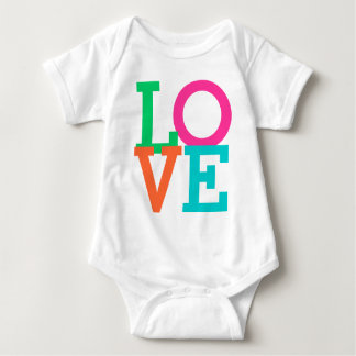 LOVE Design Colorful Text Baby Bodysuit