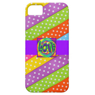 Love Design Pattern Cute Girly Save the Date Dots iPhone 5 Case