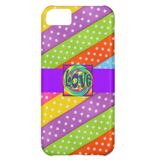 Love Design Pattern Cute Girly Save the Date Dots iPhone 5C Case