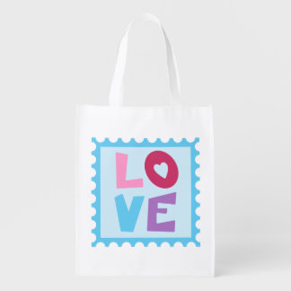 Love design reusable grocery bag