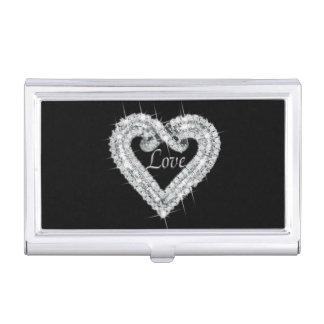 Love Diamond Heart Business Card Holder