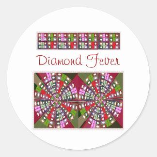 Love Diamonds - see Navin Joshi Creations Round Sticker