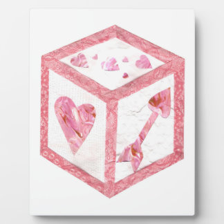 Love Dice No Background Easel Plaque