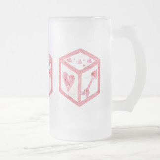 Love Dice No Background Frosted Jug Frosted Glass Beer Mug