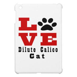 Love Dilute Calico Cat Designes iPad Mini Cover