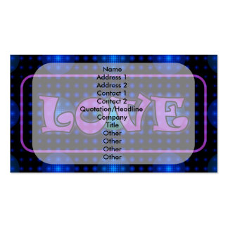 """Love"" Disco Ball Fractal Business Card Templates"