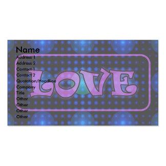 """Love"" Disco Ball Fractal Business Cards"