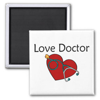 Love Doctor Square Magnet