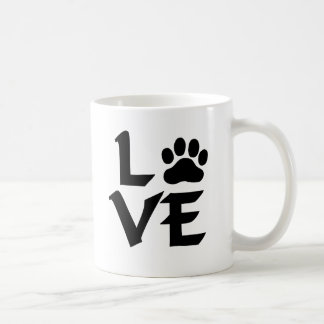 Love Dog Paw Coffee Mug