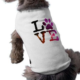 Love, Dog Paw Print Coat or Sweater Shirt