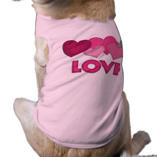 """Love"" Doggie Ribbed Tank Top Sleeveless Dog Shirt"