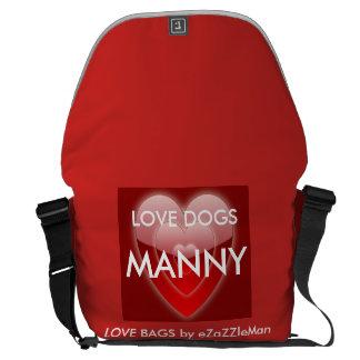 LOVE DOGS  MANNY - Love Bag by eZaZZleMan.com Messenger Bags
