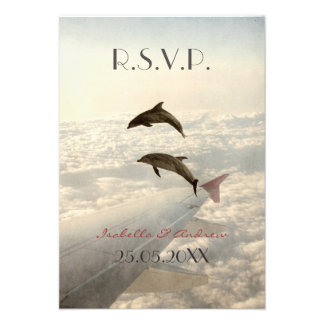 Love Dolphins - wedding RSVP Personalized Invitations
