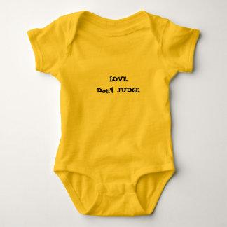 LOVE. Don't JUDGE. Baby Bodysuit
